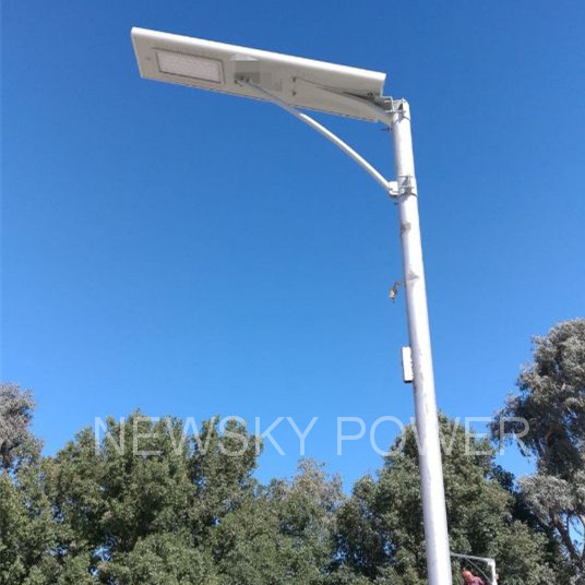 NSP40W All In One Solar Street Light Installed In Kuwait of March.2019