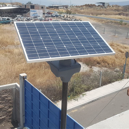 NG01-80W solar street lights in Mexico
